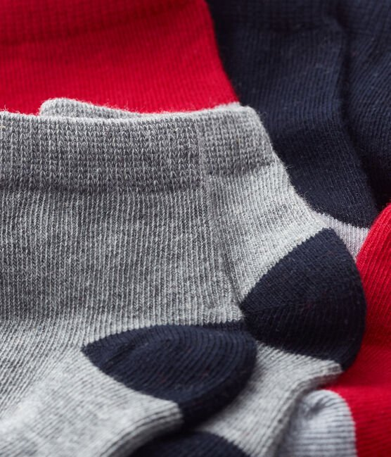 Lote de 5 pares de calcetines básicos para bebé niño azul Smoking / rojo Terkuit