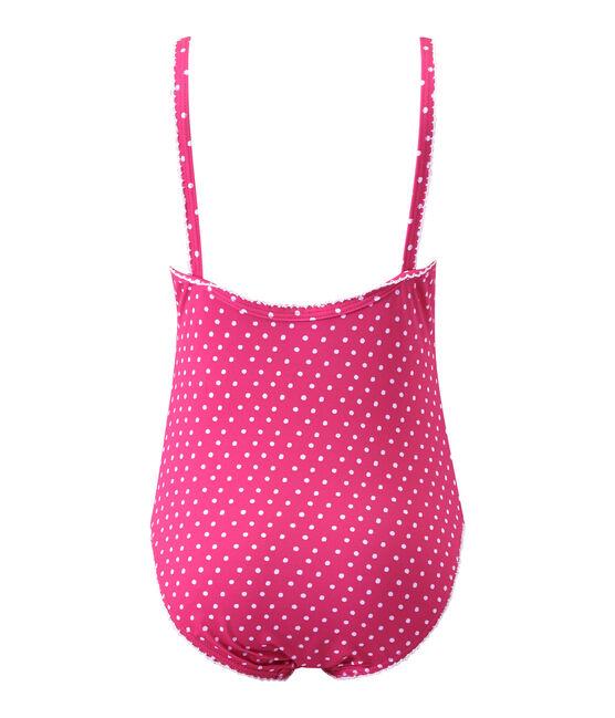 Bañador a topos rosa Petunia / blanco Marshmallo