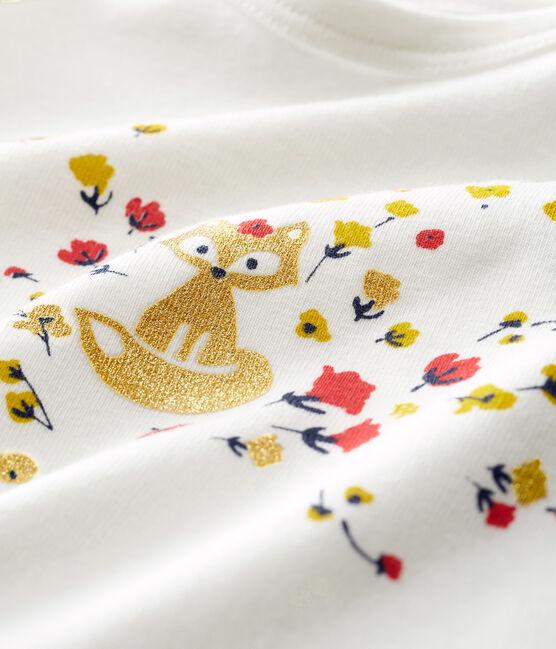 Camiseta de manga larga para bebé niña blanco Marshmallow