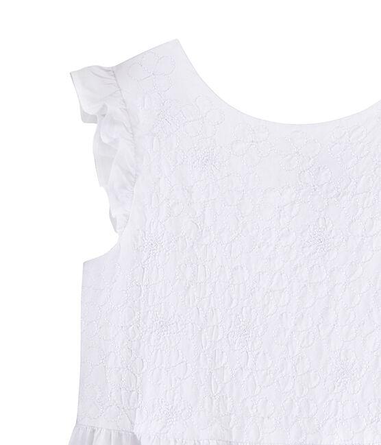 Vestido de cerimonía para niña blanco Ecume