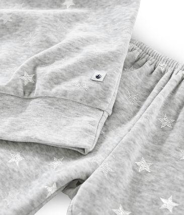 Pijama de punto de terciopelo