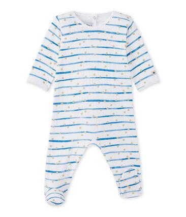 Pijama en túbico rayado para bebé niña