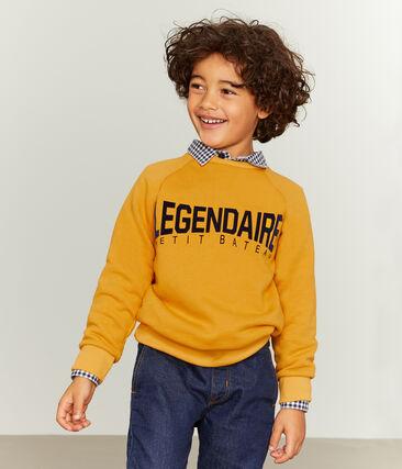Sudadera de niño amarillo Boudor
