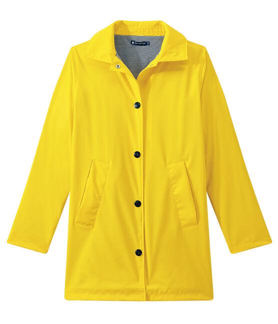 Chubasquero con forma de abrigo para mujer amarillo Jaune