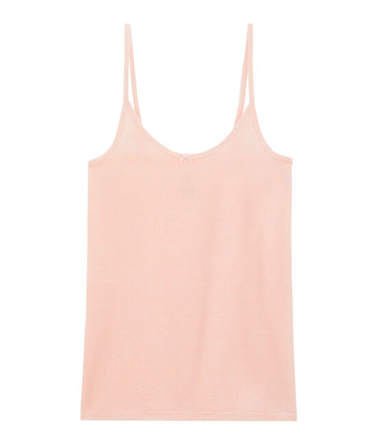 Camisa de tirantes para mujer blanco Marshmallow / rosa Rosako