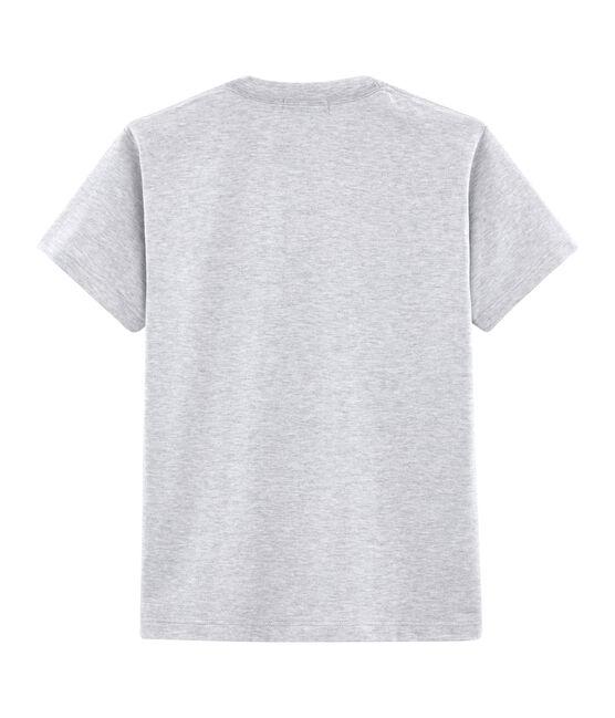 Camiseta mixta con motivo de postal gris Poussiere Chine