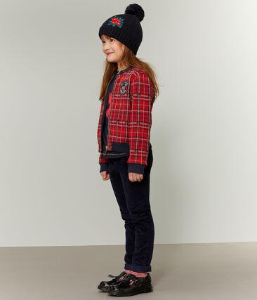 Teddy estilo escocés para niña rojo Terkuit / blanco Multico