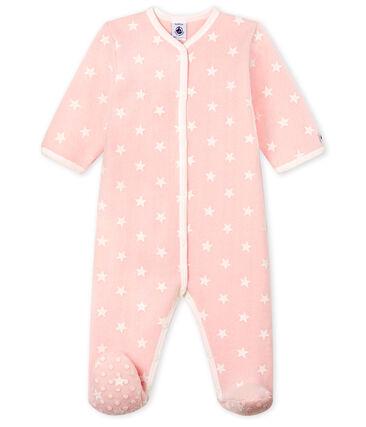 Sobrepijama de polar para bebé niña rosa Minois / blanco Marshmallow