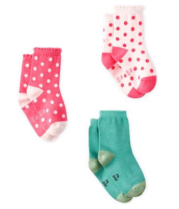Lote de 3 pares de calcetines para bebé niña