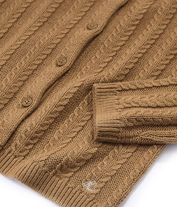 Cárdigan de lana y algodón