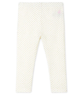 Leggings estampados para bebé niña blanco Marshmallow / amarillo Or