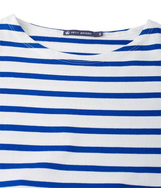 Robe femme trompe l'œil blanco Lait/azul Surf