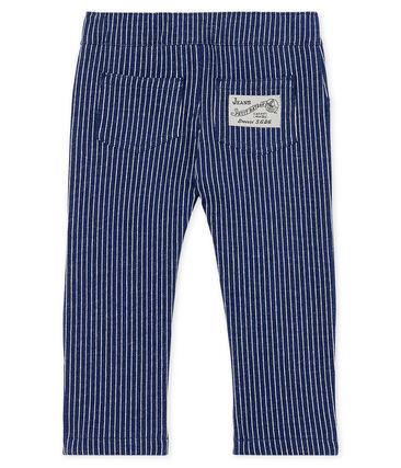 Pantalón de tela de rayas para bebé niño