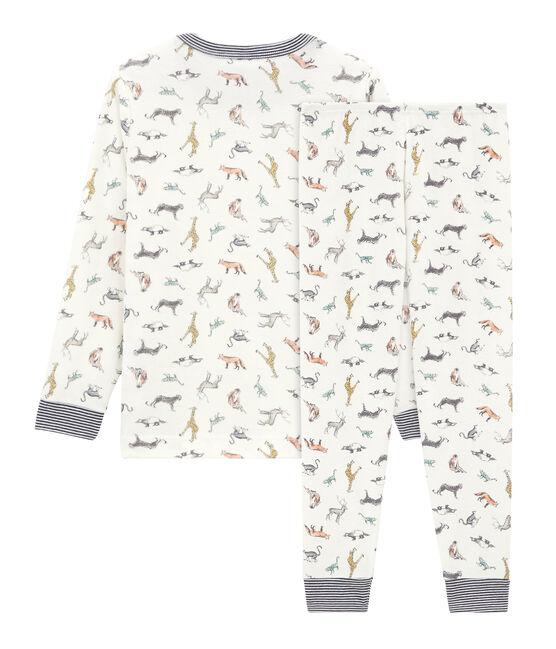Pijama de punto para niño pequeño blanco Marshmallow / blanco Multico