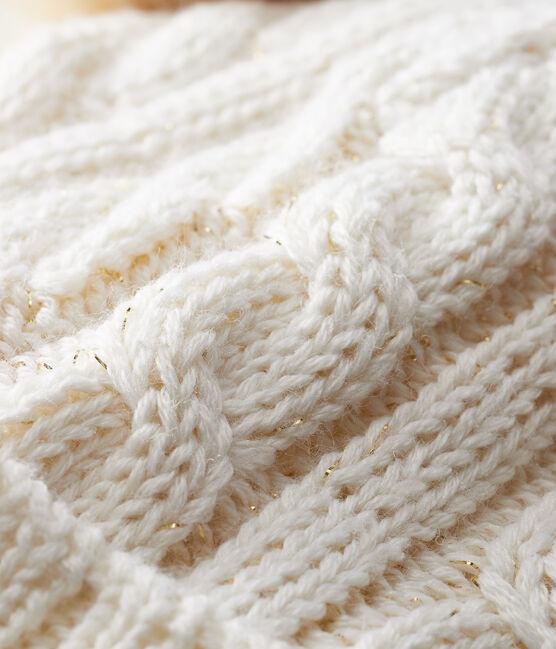 Gorro para niña blanco Marshmallow / amarillo Or