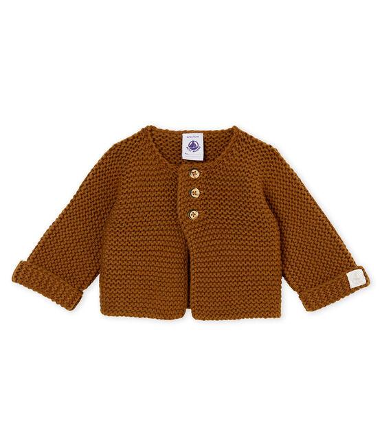 Cárdigan en punto para bebé mixto marrón Autumn