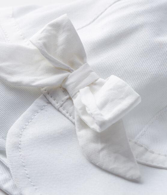 Capelina de sarga bebé niña blanco Marshmallow