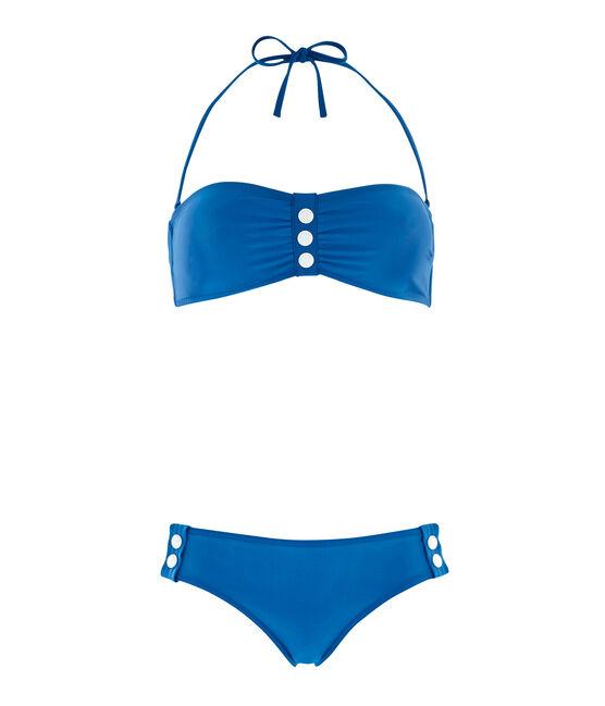 Traje de baño 2 piezas para mujer azul Riyadh