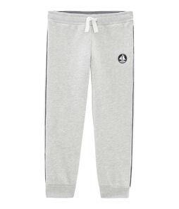 Pantalón de felpa para niño gris Beluga