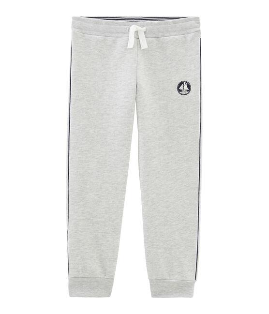 Pantalón de muletón para niño gris Beluga