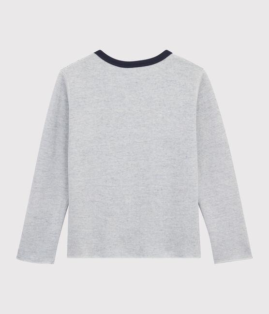 Camiseta reversible para niño azul Smoking / blanco Marshmallow