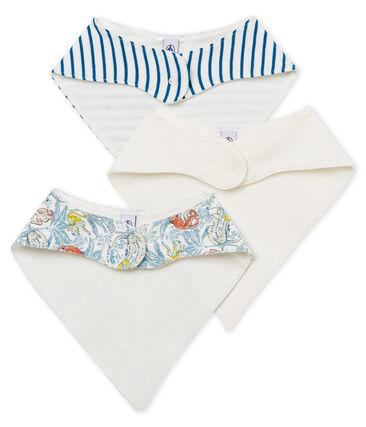 Lote de tres baberos de algodón para bebé niño