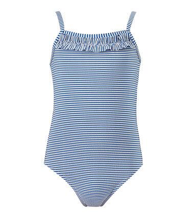 Bañador a rayas azul Perse / blanco Marshmallow