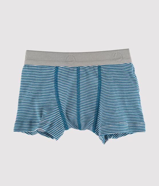 Bóxer para niño azul Contes / blanco Marshmallow