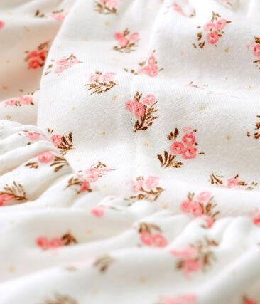 Vestido y braguita «bloomer» de punto para bebé niña blanco Marshmallow / blanco Multico