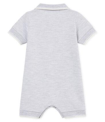 Mono corto polo para bebé niño gris Poussiere Chine