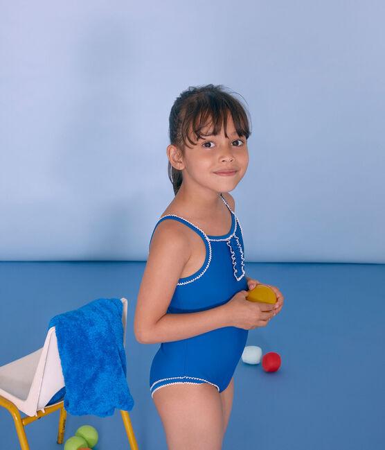 Traje de baño 1 pieza para niña azul Riyadh