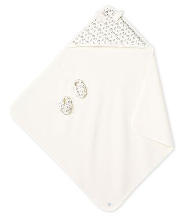 Estuche con toalla cuadrada de baño y patucos para bebé de BE y punto. MARSHMALLOW/SCULPTURE/MULTICO