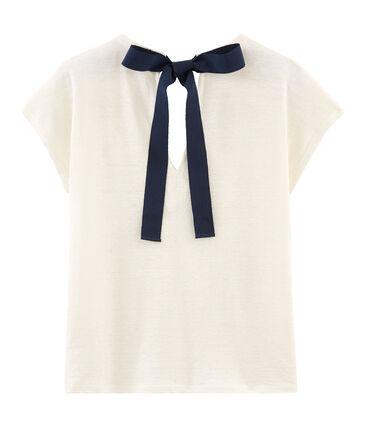 Camiseta manga corta de lino para mujer