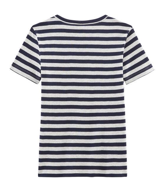 Camiseta icónica para mujer azul Smoking / gris Beluga