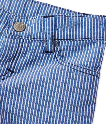 Pantalón de rayas para bebé niño azul Surf / blanco Ecume