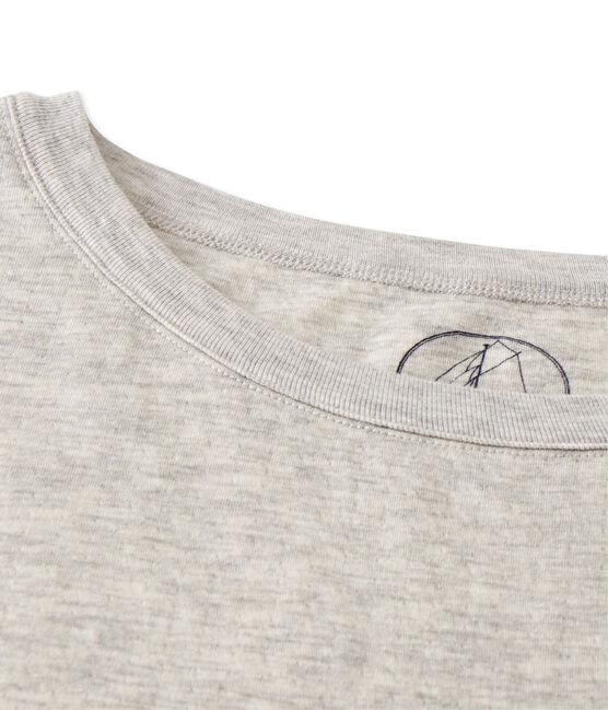 Camiseta maxi para mujer en túbico extrafino chiné gris Beluga Chine
