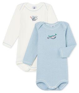 Dúo de bodis de manga larga para bebé niña