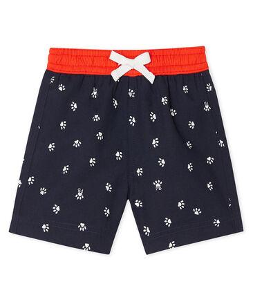 Pantalón corto de playa estampado para bebé niño azul Smoking / blanco Multico