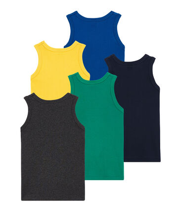Pack de 5 camisetas sin mangas para niño