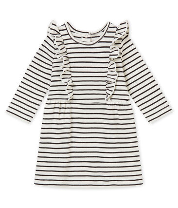 Vestido a rayas marineras para bebé niña