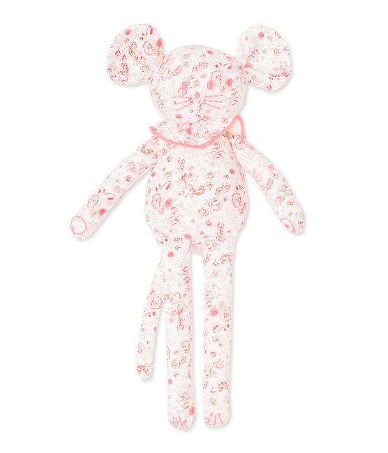 Doudou estampado para bebé niña blanco Lait / blanco Multico