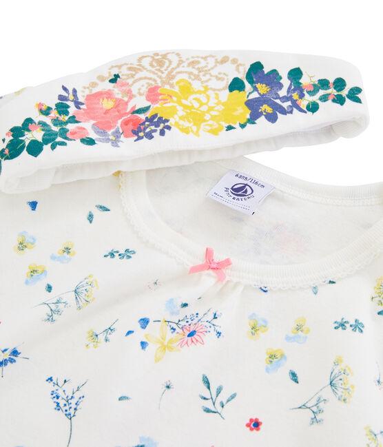Camisón para niña pequeña con diadema blanco Marshmallow / blanco Multico