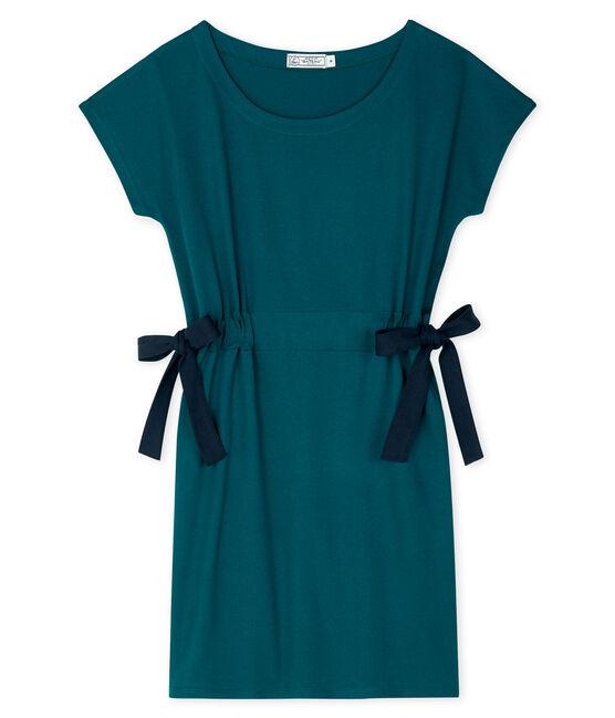 Vestido manga corta para mujer verde Pinede