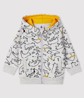 Sudadera con capucha para bebé niño gris Beluga / blanco Multico