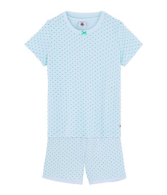 Pijama corto de punto para niña verde Amandier / verde Esperanza Brillant