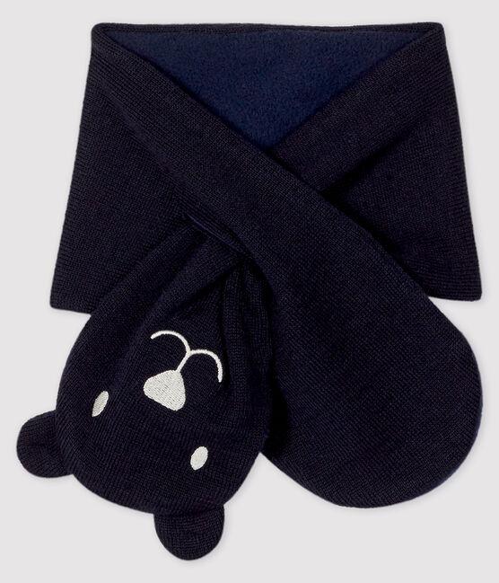 Bufanda para bebé con forro de microfibra polar azul Smoking