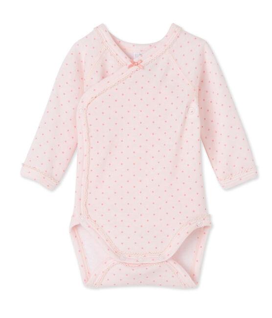 Body de manga larga de lana y algodón de primera puesta para bebé niña rosa Vienne / rosa Gretel