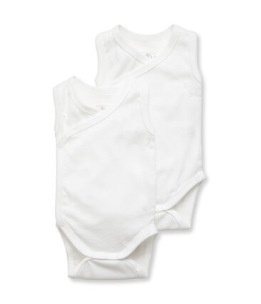 Par de bodis de nacimiento sin mangas para bebé unisex