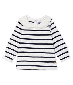 Blusa de manga larga con rayas marineras para bebé niña