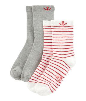 Lote de 2 pares de calcetines niño lote .